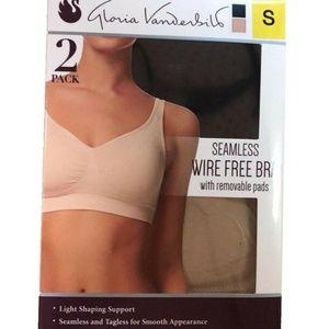 Gloria Vanderbilt 2 Pack Wire Free Bra Breathable